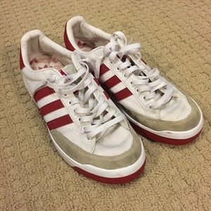 Adidas Nastase red and white, women's size 9